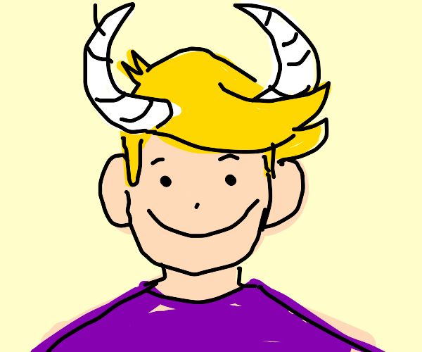 happy kid with horns