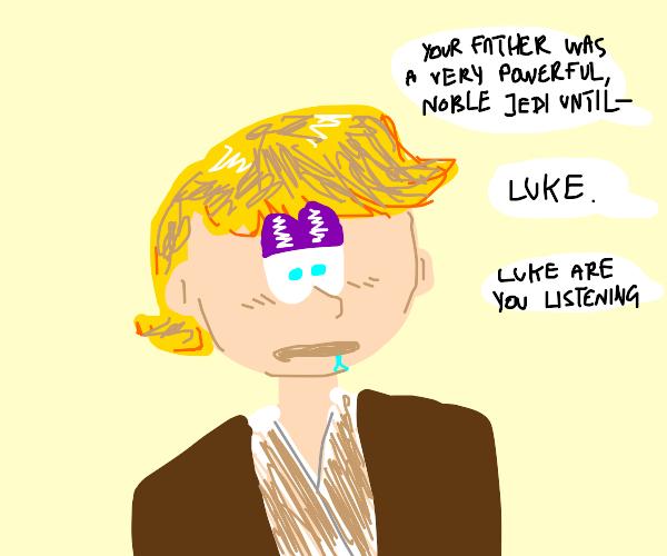 Luke Skywalker drooling