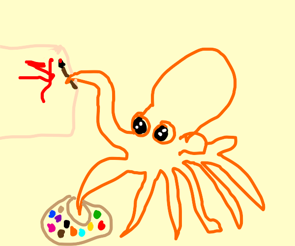 oswald the octopus paints a picture