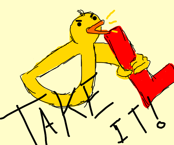 Drawception Duck makes you take the L