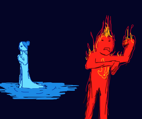 Fire man scared of water