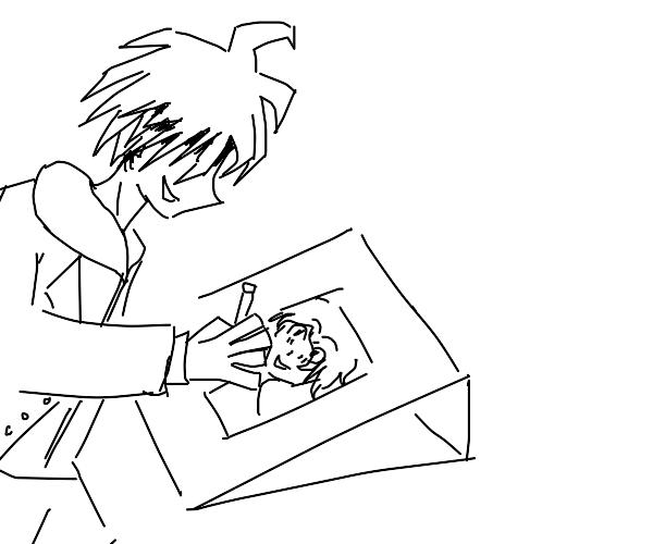 anime boy drawing anime boy