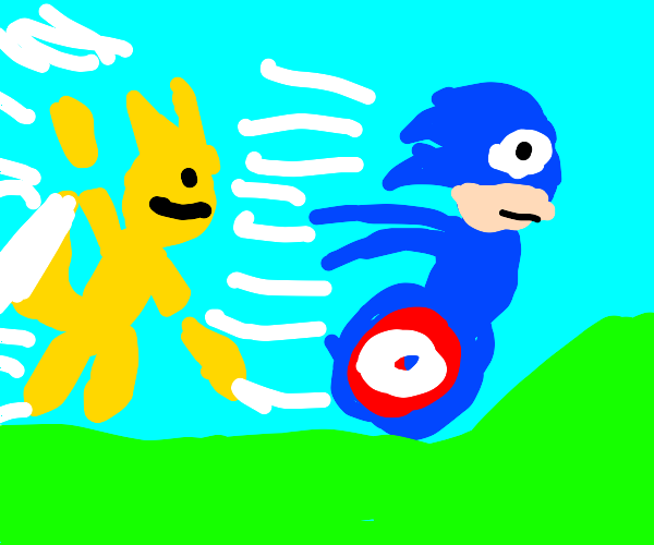 Sonic and Tails Zoomin'