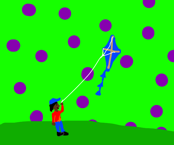 flying a kite in an acid world
