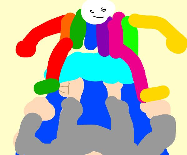 A really colourful sleep paralysis demon