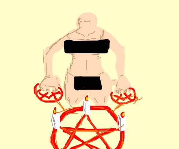 Nudist summons demon