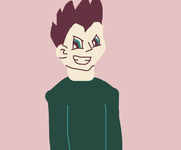 Anime dude with spiky hair
