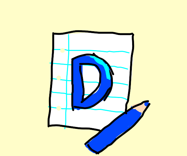 drawception d drawn on a piece of paper
