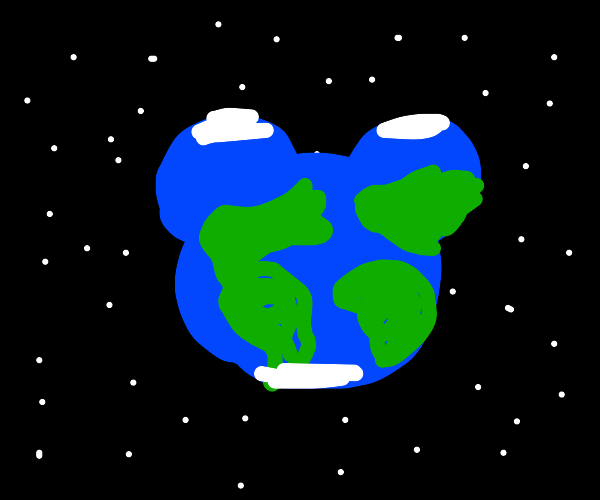 So it's earth but shaped like mickey mouse
