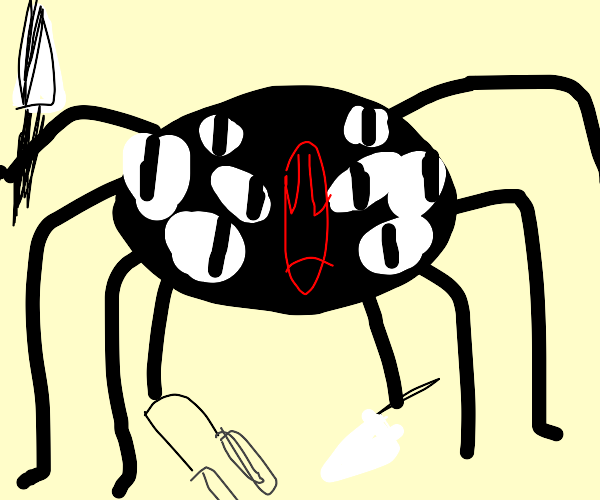 Giant Enemy Spider Drawception The video features the player saying, oh, no, the giant enemy spider. giant enemy spider drawception