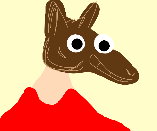 guy wearing a horse mask