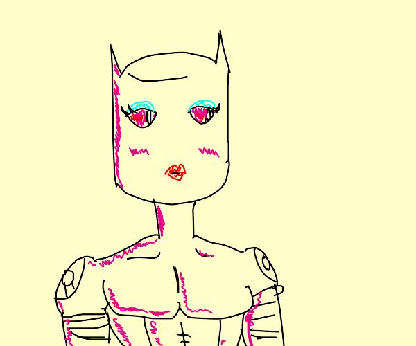 Killer queen with makeup on