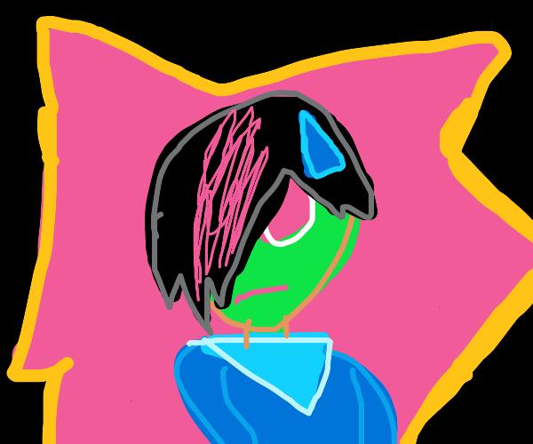 Sweaty emo alien