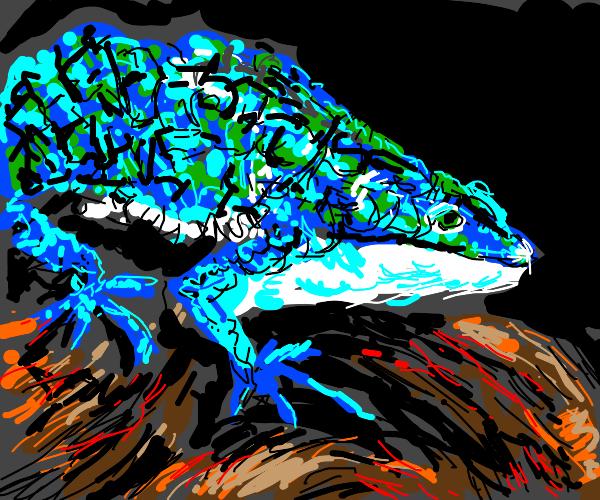 Giant lizard just vivin'