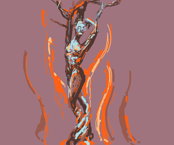Burning tree lady