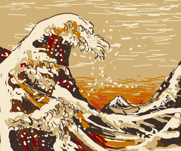 The Great Wave art