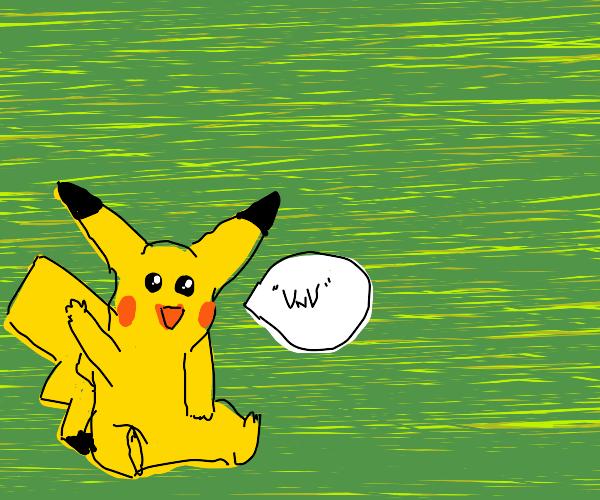 cute lil' pikachu says VwV