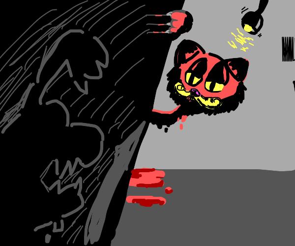 Garfield But Weird Drawception