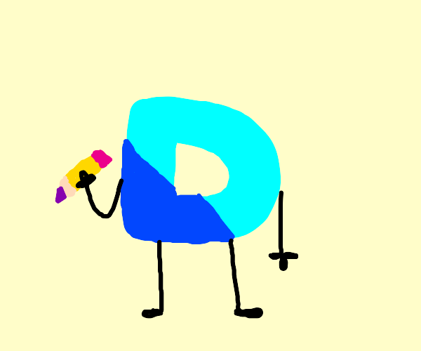 Drawception d holding a pencil