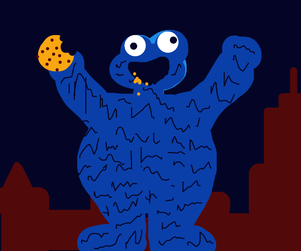 Cookie monster is an absolute unit