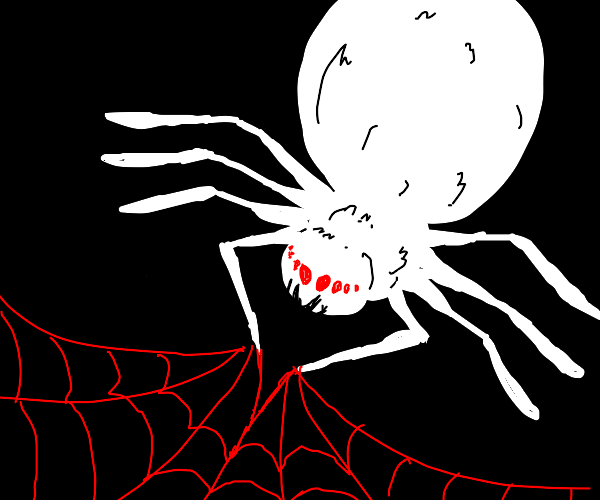 The portly spider weaves a blood-web.