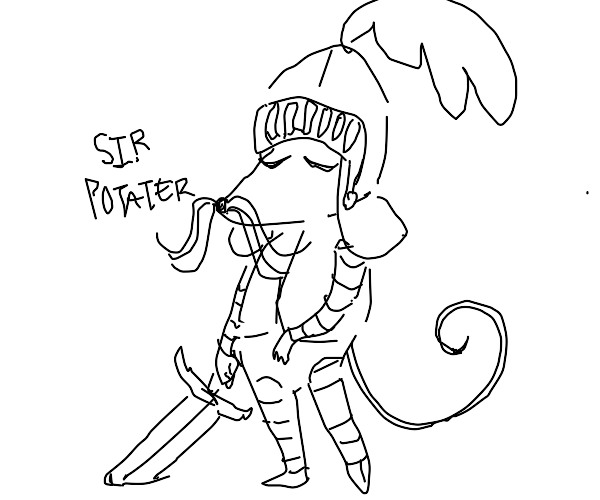 mouse knight named potater
