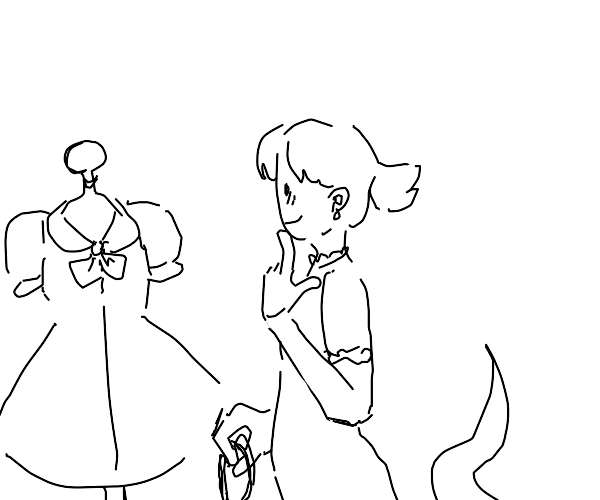 lil ghost shopping for clothes