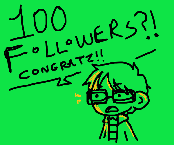 thanks for 100 followers!