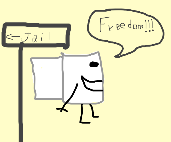 Toilet paper is finally free from jail