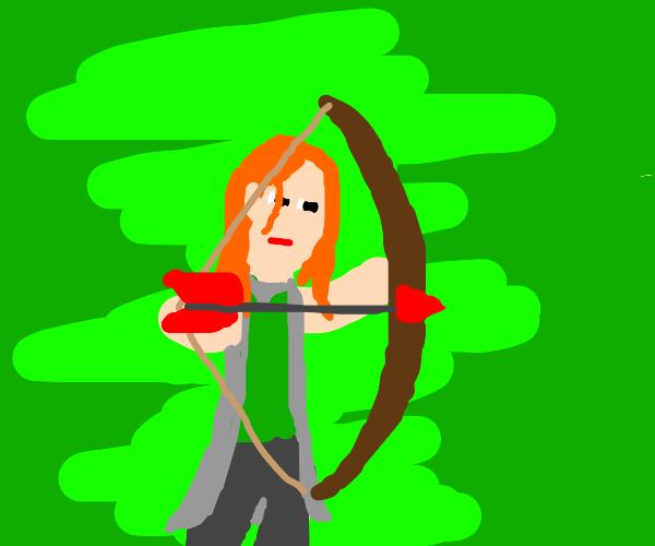 red head elf warrior