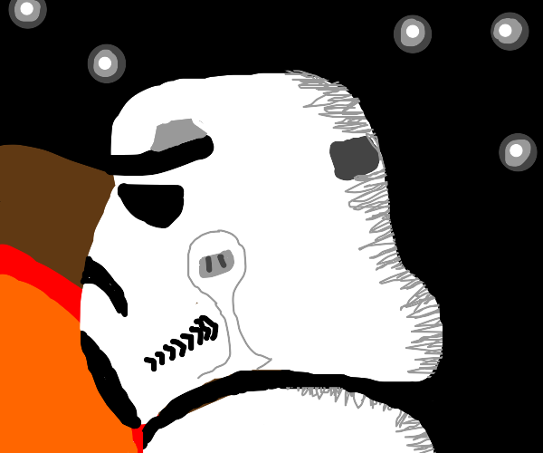 stormtrooper looks into the distance