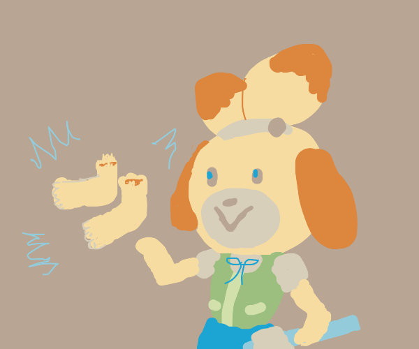Isabelle wanted some feet