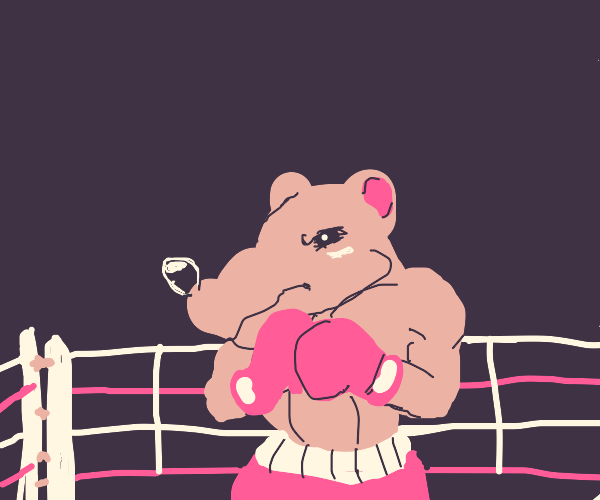 An amazingly detailed boxing rat