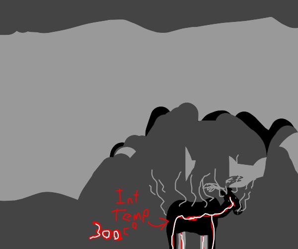 Moose overheating