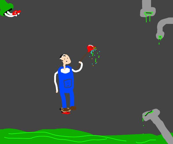 plumber and hedgehog (no shoehorns!)