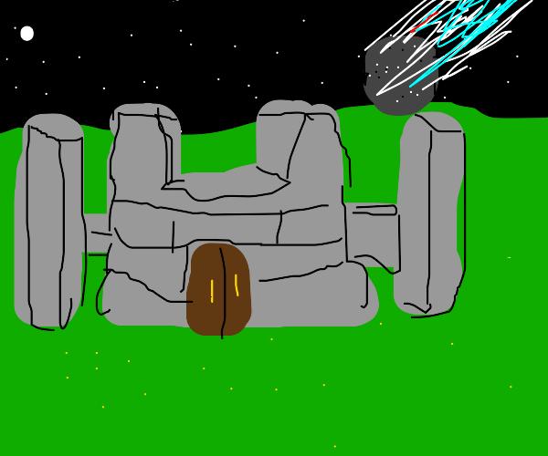 meteorite hits castle