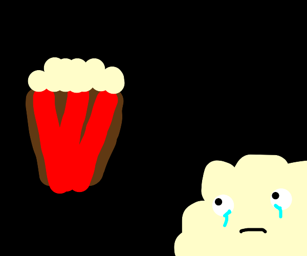left out popcorn