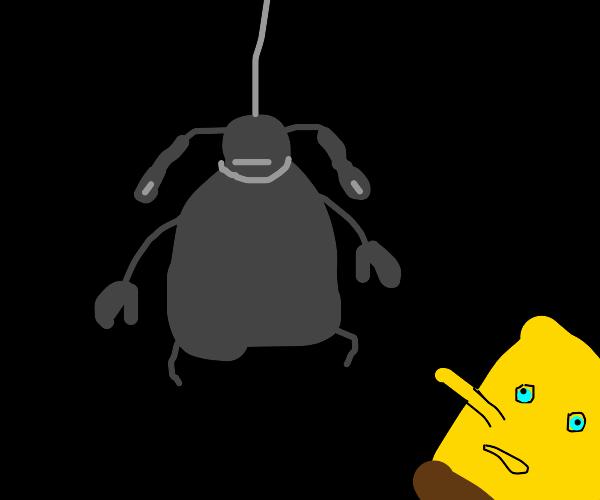 Spongebob found Mr. Krabs dead at work