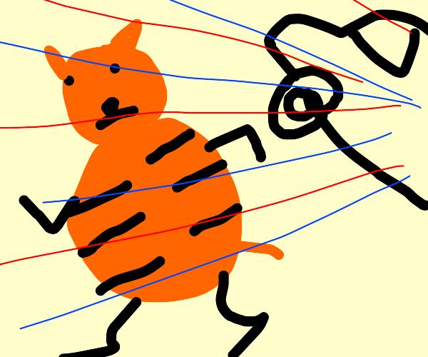 garfield running from his past