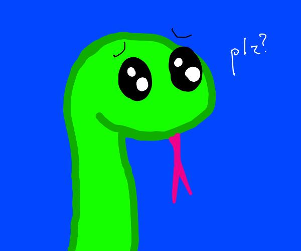 snake says please