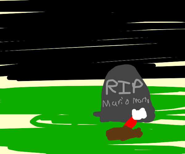 Mario's gravestone