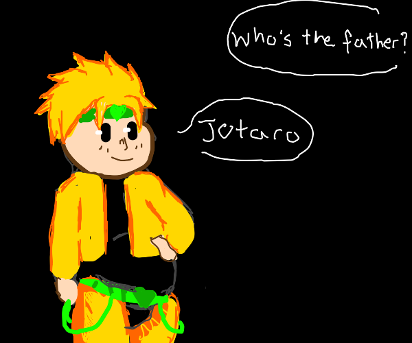 dio is prego with jojo's child