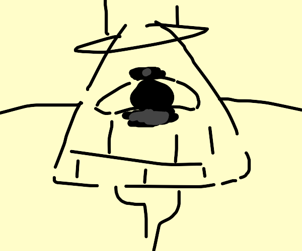 bill cipher seems to be trying to hug you