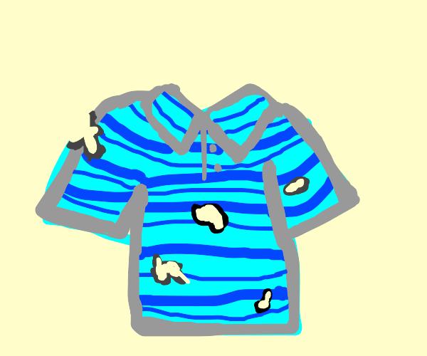 Polo shirt full of holes