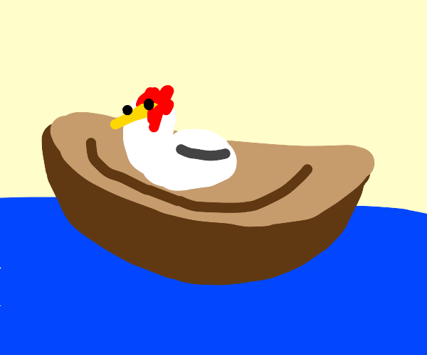 Chicken on a boat