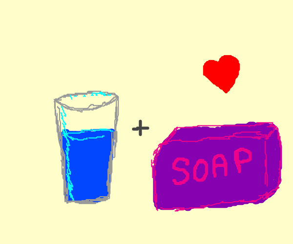 Using soap and water to wash hands