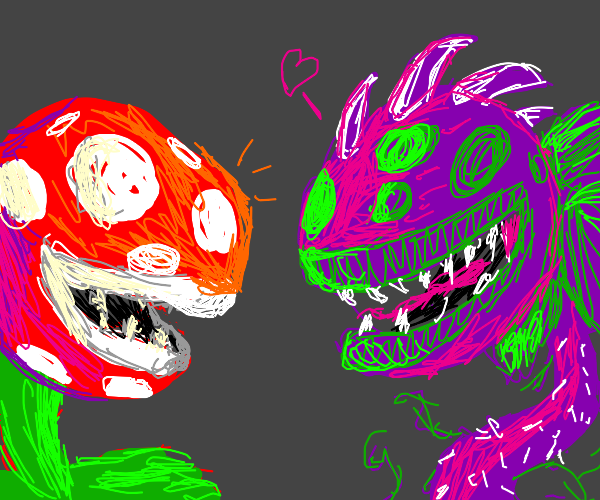 Pirahna Plant and Chomper PvZ hanging out.