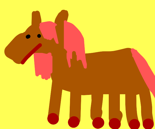 Horse with way too many legs