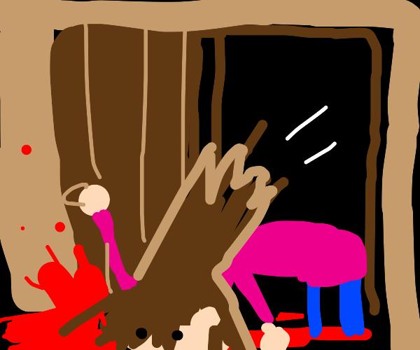 Girl dies while opening a door