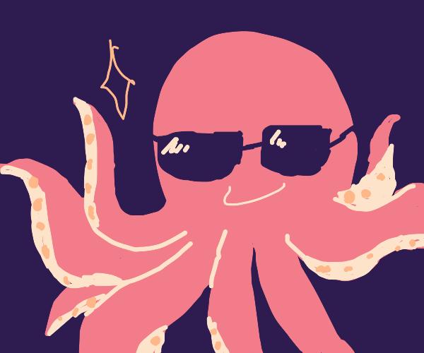 octopus wearing sunglasses